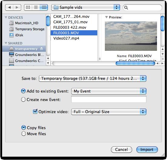 fotos und video importieren